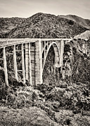 White Arched Bridge Prints - Highway 1 Print by Heather Applegate