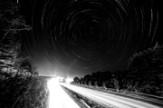 All-star Framed Prints - Highway 321 Star Trails Framed Print by Robert Loe