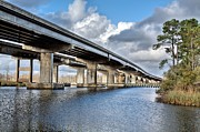 Florida Bridge Photos - Highway 90 by JC Findley