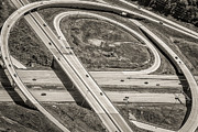 Exits Prints - Highway Aerial View Print by Richard Marquardt