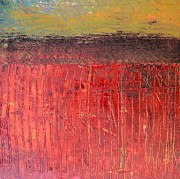 Abstract Landscapes Painting Prints - Highway Series - Cranberry Bog Print by Michelle Calkins