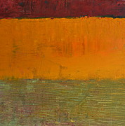 Horizon Paintings - Highway Series - Grasses by Michelle Calkins