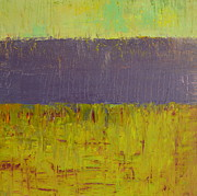 Abstract Landscapes Paintings - Highway Series - Lake by Michelle Calkins