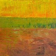 Abstract Landscapes Paintings - Highway Series - Soil by Michelle Calkins