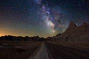 Badlands Posters - Highway to Poster by Aaron J Groen
