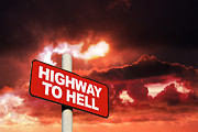 Notice Board Framed Prints - Highway to Hell  Framed Print by Steve Ball