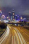 Highway Lights Prints - Highway to Hong Kong Print by Lars Ruecker