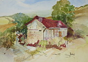 Adobe Mixed Media Prints - Higuera Adobe Print by Grace Rankin