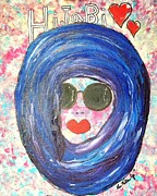 Hijab Paintings - Hijabi by LaRita Dixon