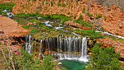 Hike Prints - Hike into Havasupai  Print by Michael J Bauer