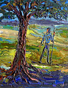 Arthur Robins - Hiker With Shady Tree
