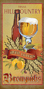 Hops Framed Prints - Hill Country Brewpubs Framed Print by Jim Sanders
