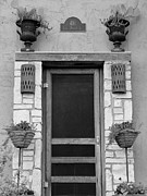 416 Prints - Hill Country Hacienda bw Print by Elizabeth Sullivan
