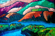 Impasto Oil Paintings - Hill Landscape by E Dan Barker