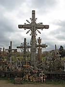 Ausra Posters - Hill of Crosses 06. Lithuania.  Poster by Ausra Paulauskaite