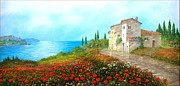 Sicily Paintings - Hill on the Sea by Luciano Torsi