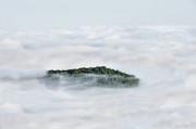 Hill Top Island In The Clouds Print by Dan Friend