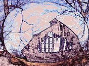 Country Scenes Mixed Media Prints - Hillards Barn Print by Dennis Buckman