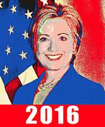 Hillary 2016 Print by Scarebaby Design