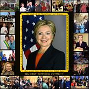 Hillary Rodham Clinton        Print by James William Allen
