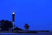 Hillsboro Prints - Hillsboro Inlet Light at Dusk - FS000790 Print by Daniel Dempster
