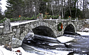 Christmas Blocks Framed Prints - Hillsborough Stone Bridge Framed Print by Scott Moore