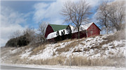 Farming Digital Art - Hillside Farm In Winter by Kay Novy