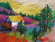 House Pastels - Hillside House by John  Williams