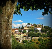 Jsm Fine Arts Framed Prints - Hillside Tuscan Village  Framed Print by John Malone