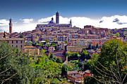Medieval City Photos - Hilltop Siena by Walt  Baker