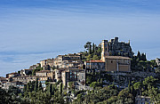 Southern France Framed Prints - Hilltop town of Eza Framed Print by John Greim