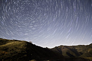 Startrails Photo Prints - Hilltop Vertigo Print by Tyler Rocheleau