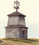 Hilltop Windmill Print by Richard Bean