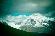 Tibet Prints - Himalaya Range In Western Tibet with clouds Print by Raimond Klavins