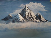 Himalaya Paintings - Himalayan Splendour by Sharu Anjirbag