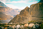 Kali Framed Prints - Himalayas road to Upper Mustang view from Kagbeni Framed Print by Raimond Klavins