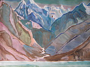 Himalayas Paintings - Himalayas by Vikram Singh