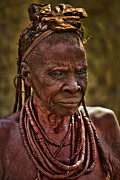Infant Prints - Himba Tribe Elder Wearing Necklaces Print by Paul W Sharpe Aka Wizard of Wonders