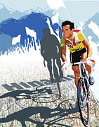 Sassan Filsoof Posters - Hinault map print Poster by Sassan Filsoof