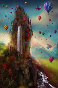 Hot-air Balloons Prints - Hinchangtor Print by Aimee Stewart