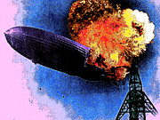 Flying Crafts Prints - Hindenburg 20130605 Print by Wingsdomain Art and Photography