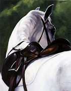Horse Stable Painting Posters - Hindsight Poster by Janet  Crawford