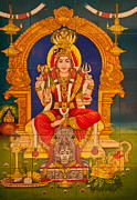 Hindu Goddess Photo Posters - Hindu God Poster by Niphon Chanthana