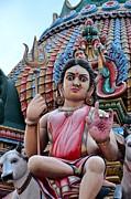 Hindu Goddess At Colorful Temple Print by Imran Ahmed