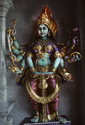 Hindu Goddess Prints - Hindu Goddess Bhairavi Print by Carl Purcell