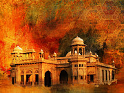 Red Buildings Framed Prints - Hindu Gymkhana Framed Print by Catf