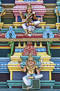 Indian Deities Metal Prints - Hindu Temple Deity Statues Metal Print by Tim Gainey