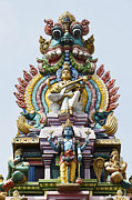 Deities Photos - Hindu Temple Gopuram India by Tim Gainey