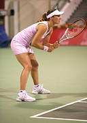 Wta Tennis Framed Prints - Hingis in Doha Framed Print by Paul Cowan
