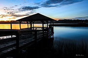 Bill Cantey Metal Prints - Hinson House Dock Metal Print by Bill Cantey
